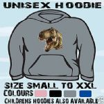T REX DINOUSAUR JURRASIC UNISEX HOODIE HOODED TOP L@@K